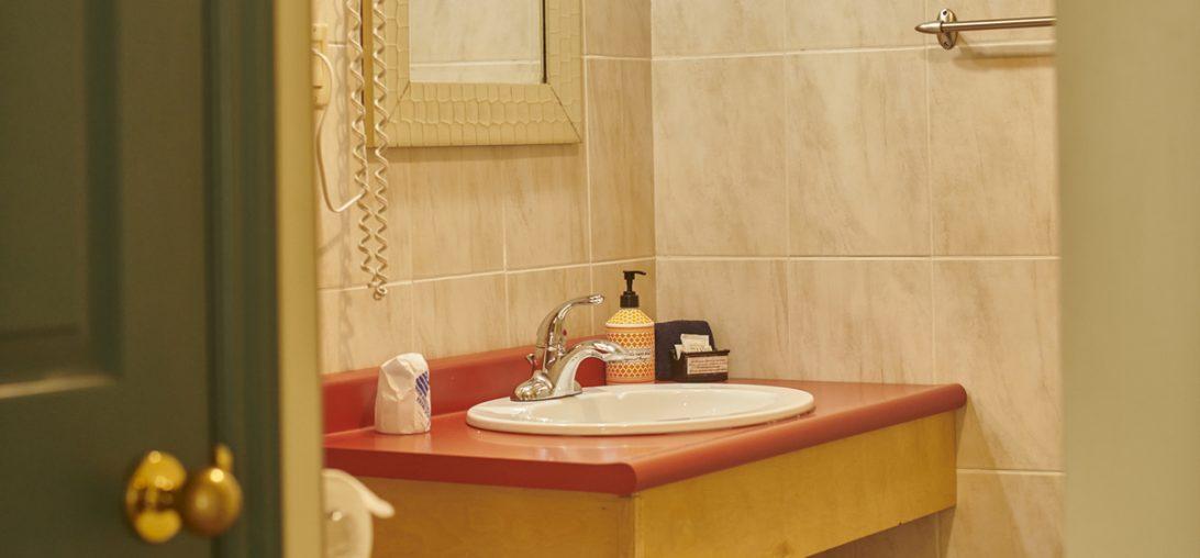 Sink in a hotel bathroom in Lunenburg NS