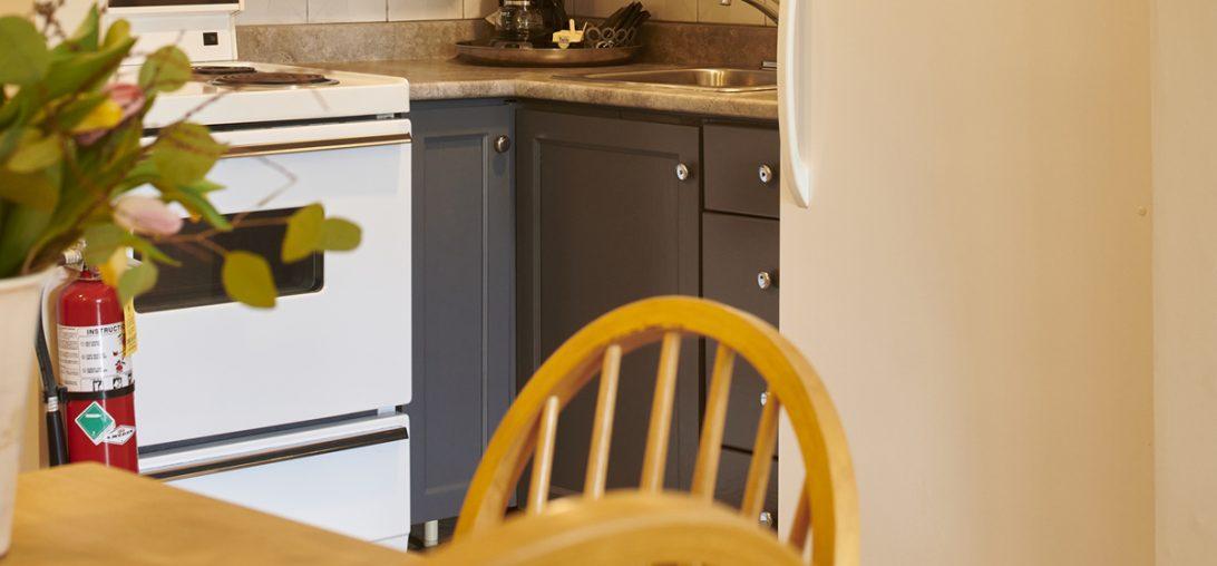 Hotel apartment kitchen in Lunenburg NS