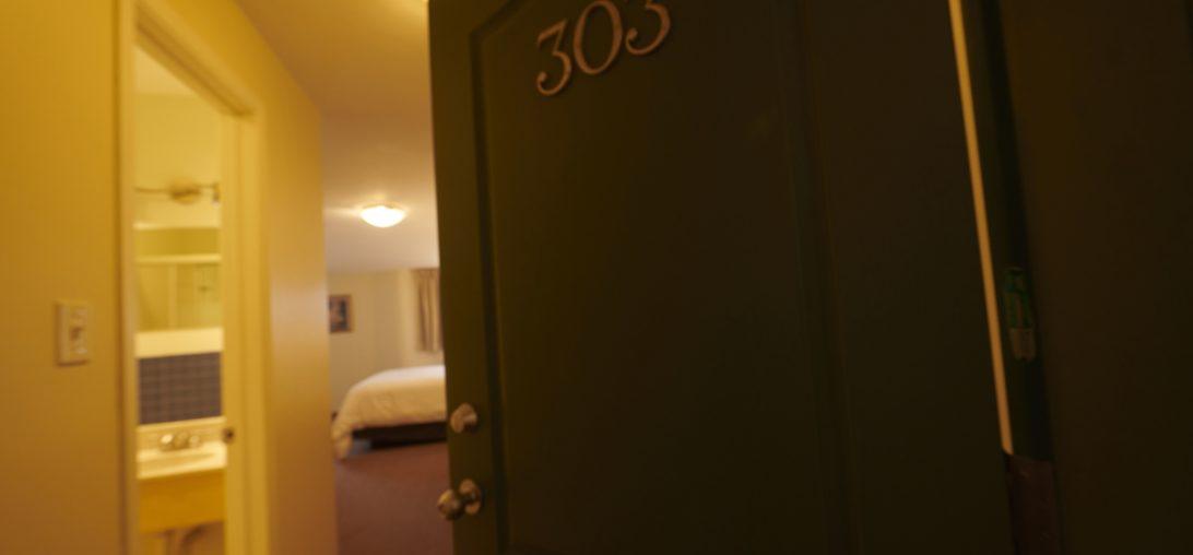 Entering Room 303 at Smuggler's Cove Inn in Lunenburg, NS.
