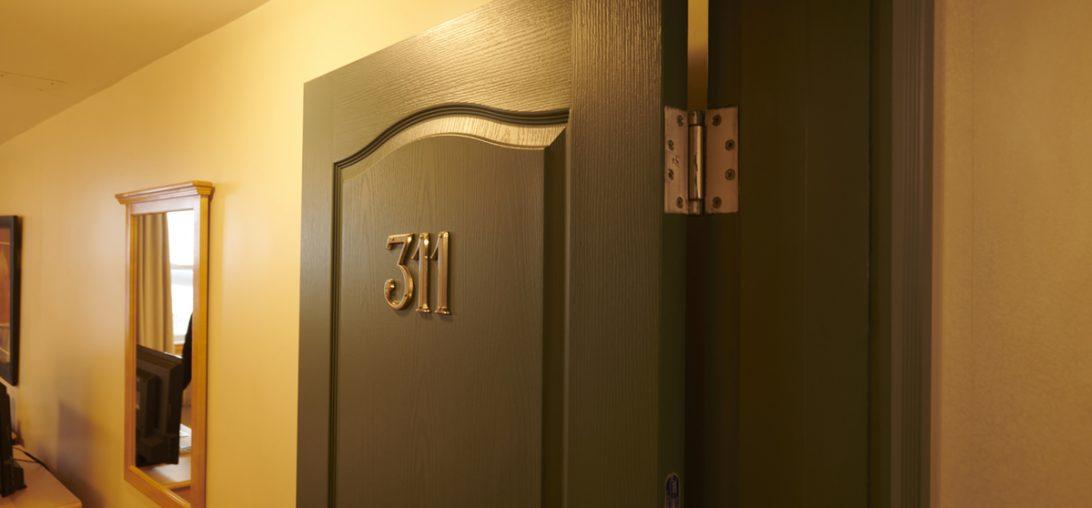 Entering Room 311 at the Smuggler's Cove Inn