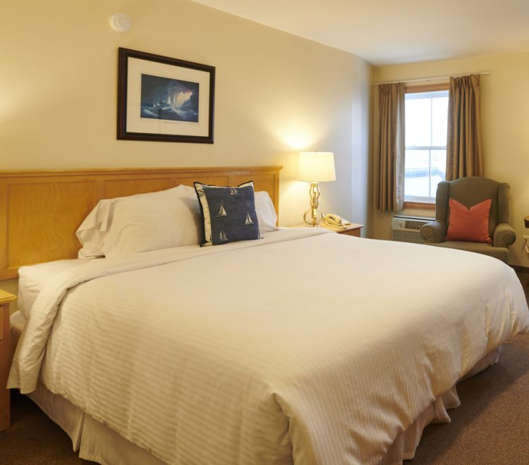 side view of the King sized bed in room 301